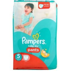 15 Couches Pampers Baby Dry Pants taille 5