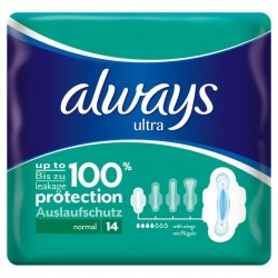 168 Serviettes hygiéniques Always Ultra Thin taille normal plus