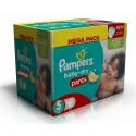 345 Couches Pampers Baby Dry Pants taille 5 sur Sos Couches