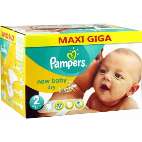 800 Couches Pampers New Baby Dry taille 2 sur Sos Couches