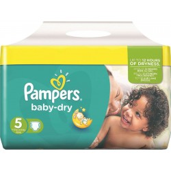 54 Couches Pampers Baby Dry taille 5 sur Sos Couches