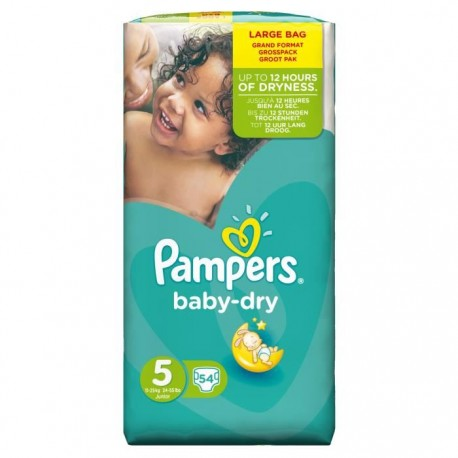 Achat 54 couches pampers baby dry taille 5 pas cher sur - Achat couches pampers en gros pas cher ...