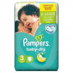 52 Couches Pampers Baby Dry taille 3 sur Sos Couches