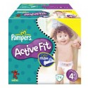 74 Couches Pampers Active Fit taille 4+ sur Sos Couches
