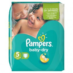 30 Couches Pampers Baby Dry taille 5