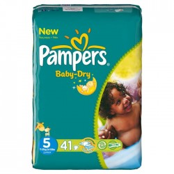 41 Couches Pampers Baby Dry taille 5