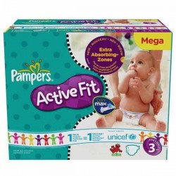 372 Couches Pampers Active Fit 3
