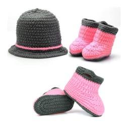 Premier ensemble nouveaux nés Choupinet Chapeau et Chaussures Chic taille 0-12Mois