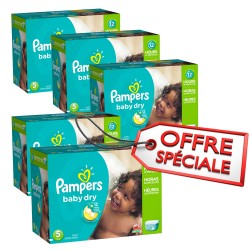 322 Couches Pampers Baby Dry taille 5