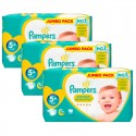 220 Couches Pampers New Baby Premium Protection taille 5+ sur Sos Couches