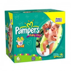 228 Couches Pampers Baby Dry taille 6