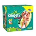 228 Couches Pampers Baby Dry taille 6 sur Sos Couches