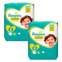 186 Couches Pampers New Baby Premium Protection taille 6