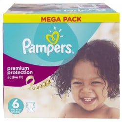 192 Couches Pampers Active Fit taille 6