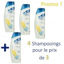4 Shampooings Head & Shoulders Antipelliculaire Citrus Fresh - 4 au prix de 3 sur Sos Couches
