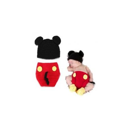 Premier ensemble nouveaux nés Choupinet Mickey Mouse taille 6-18Mois sur Sos Couches