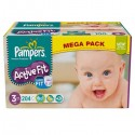 204 Couches Pampers Active Fit taille 3 sur Sos Couches