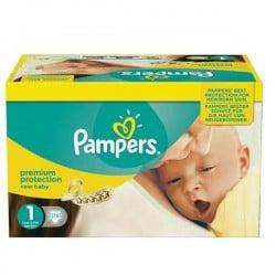 216 Couches de la marque Pampers New Baby de taille 1 sur Sos Couches