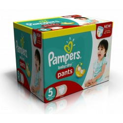 63 Couches Pampers Baby Dry Pants taille 5