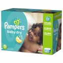 132 Couches Pampers Baby Dry taille 5 sur Sos Couches