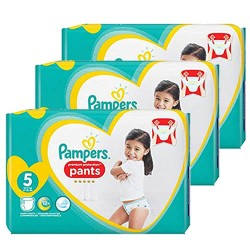 204 Couches Pampers Premium Protection Pants taille 5