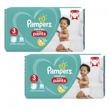 900 Couches Pampers Baby Dry Pants taille 3 sur Sos Couches