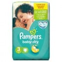 90 Couches Pampers Baby Dry taille 3 sur Sos Couches