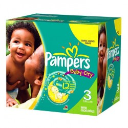 270 Couches Pampers Baby Dry taille 3