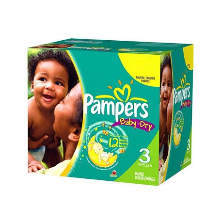 270 Couches Pampers Baby Dry taille 3 sur Sos Couches