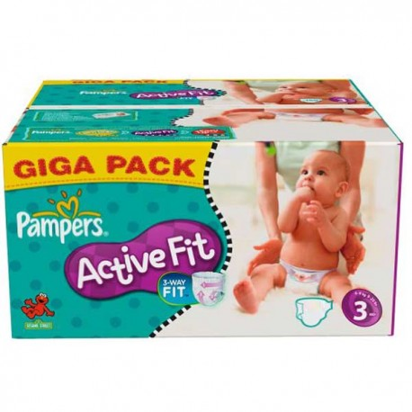 136 Couches Pampers Active Fit taille 3 sur Sos Couches