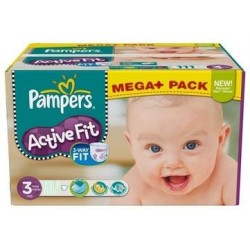 408 Couches Pampers Active Fit taille 3