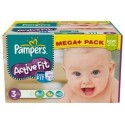 408 Couches Pampers Active Fit taille 3 sur Sos Couches