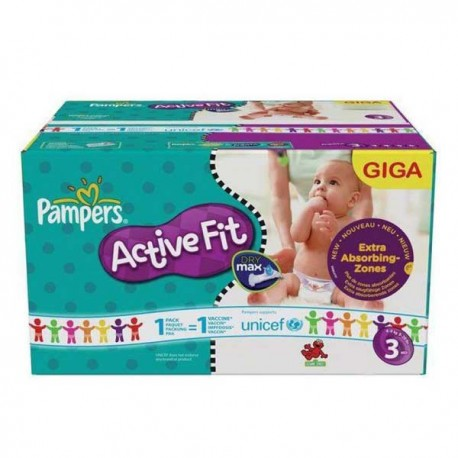 544 Couches Pampers Active Fit taille 3 sur Sos Couches