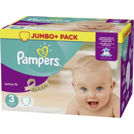 612 Couches Pampers Active Fit taille 3 sur Sos Couches