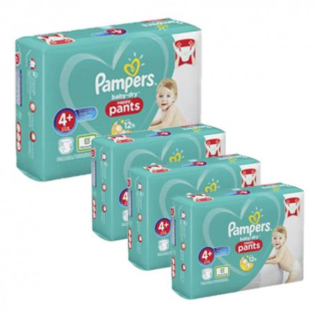 595 Couches Pampers Baby Dry Pants taille 4+ sur Sos Couches