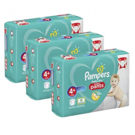 490 Couches Pampers Baby Dry Pants taille 4+ sur Sos Couches