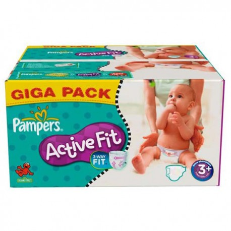 Achat 280 couches pampers active fit taille 3 en promotion sur sos couches - Couches pampers en promo ...