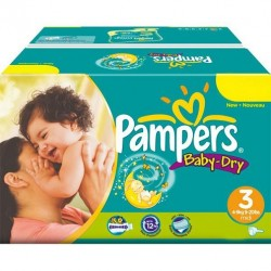 416 Couches Pampers Baby Dry de taille 3 sur Sos Couches