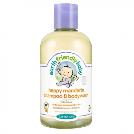 Gel douche EFB - Earth Friendly Baby Bio Mandarine sur Sos Couches