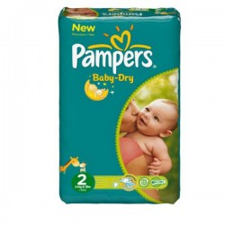 44 Couches Pampers Baby Dry 2