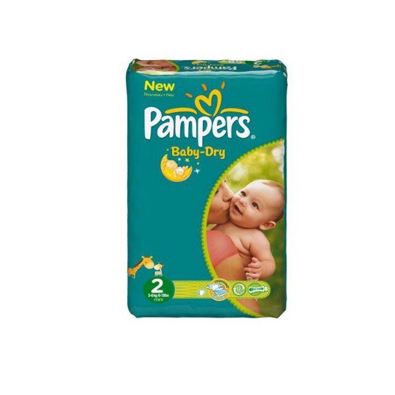 Achat 44 couches pampers baby dry taille 2 pas cher sur - Achat couches pampers en gros pas cher ...