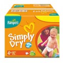 308 Couches Pampers Simply Dry 4+ sur Sos Couches