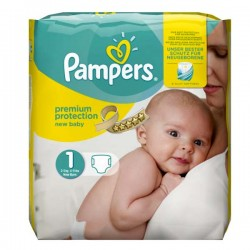 27 Couches Pampers New Baby Dry de taille 1 sur Sos Couches
