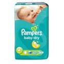 33 Couches Pampers Baby Dry taille 2 sur Sos Couches