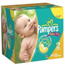 Maxi giga pack 330 Couches Pampers Baby Dry taille 2