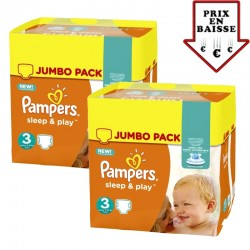 156 Couches Pampers Sleep & Play taille 3