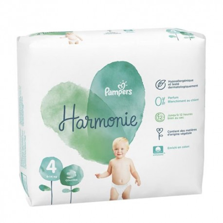 28 Couches Pampers Harmonie taille 4 sur Sos Couches