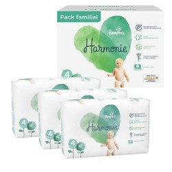196 Couches Pampers Harmonie taille 4