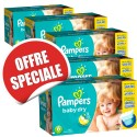 208 Couches Pampers Baby Dry taille 6 sur Sos Couches