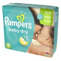156 Couches Pampers Baby Dry taille 4 sur Sos Couches
